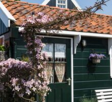 Dutch Country Charm - a Beautiful Little Cottage with Flowers Sticker
