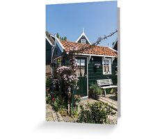 Dutch Country Charm - a Beautiful Little Cottage with Flowers Greeting Card