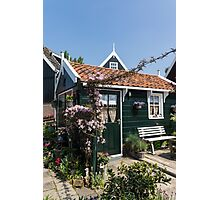 Dutch Country Charm - a Beautiful Little Cottage with Flowers Photographic Print