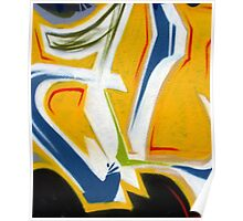 Abtag Yellow blue stripe Poster