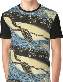 Utagawa Kuniyoshi - Miyamoto Musashi. Sea landscape: whale , shark , fish , giant , blustery, ocean, hero, warrior . Graphic T-Shirt