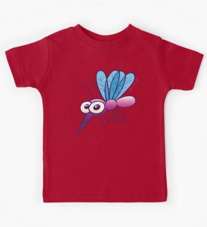 Cute Purple Mosquito Kids Tee