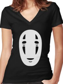 Kaonashi Spirited Away Women's Fitted V-Neck T-Shirt