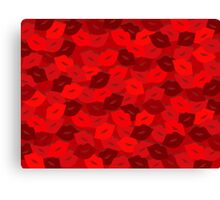 Rose Petal Lips Canvas Print