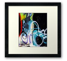 Abtag - misty blue in black Framed Print