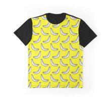 yellow banana print Graphic T-Shirt