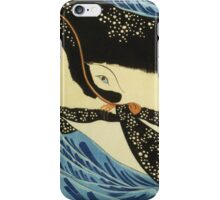 Utagawa Kuniyoshi - Miyamoto Musashi. Sea landscape: whale , shark , fish , giant , blustery, ocean, hero, warrior . iPhone Case/Skin