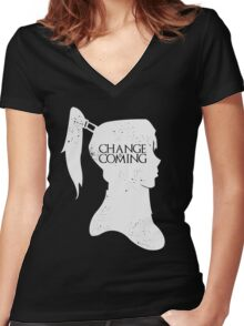 Change Is Coming Women's Fitted V-Neck T-Shirt