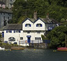 Ferryside in Fowey the house where Daphne du Maurier wrote her first novel.  by Kawka