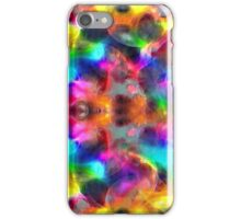 abstract fractal retro style colors iPhone Case/Skin