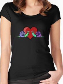 Snail Couple Women's Fitted Scoop T-Shirt
