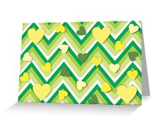 pattern with love hearts. Greeting Card