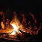 San (Kalahari) Bushmen's Healing Ceremony, Botswana by Adrian Paul