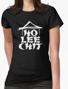 HO LEE CHIT Adult Holy Funny Asian Buffet ninja gag Womens Fitted T-Shirt