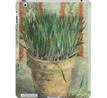 Vincent Van Gogh - Flowerpot With Garlic Chives. Still life with flowers: blossom, nature, botanical, floral flora, wonderful flower, plants, cute plant for kitchen interior, garden, vase iPad Case/Skin