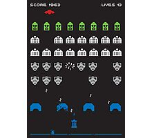 Doctor Who Invaders - Poster & stickThe classic Doctor Who monsters, in the 8 bit style of the computer game 'Space Invaders'.ers Photographic Print