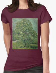 Vincent Van Gogh - Horse Chestnut Tree In Blossom. Forest view: forest , trees,  fauna, nature, birds, animals, flora, flowers, plants, field, weekend Womens Fitted T-Shirt