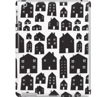 Monotone Scandi Houses iPad Case/Skin