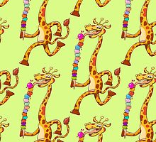 Cool Giraffe Eating Ice Cream by Zoo-co