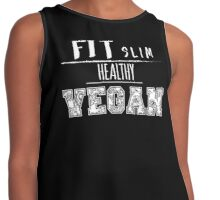 FIT SLIM HEALTHY VEGAN Contrast Tank