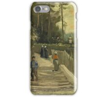 Vincent Van Gogh - Path In Montmartre. Street landscape: city view, streets, building, houses, prospects, cityscape, architecture, roads, travel landmarks, panorama garden, buildings iPhone Case/Skin