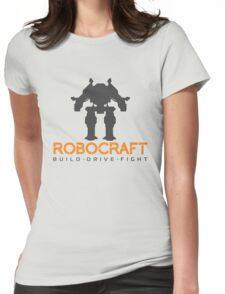 Robocraft Mech + Logo Womens Fitted T-Shirt