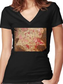 Rusty in Red Women's Fitted V-Neck T-Shirt