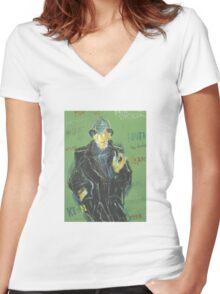 Sherlock: Sergei Lefert's drawing Women's Fitted V-Neck T-Shirt