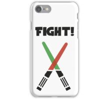 Light Saber Fight iPhone Case/Skin