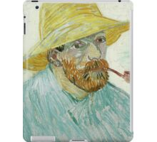 Vincent Van Gogh - Self-Portrait With Pipe And Straw Hat. Man portrait iPad Case/Skin
