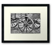 Wheels of old Framed Print