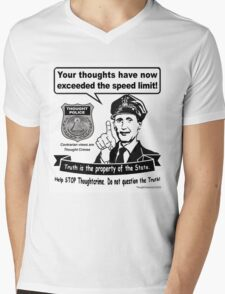 Thought Police Mens V-Neck T-Shirt