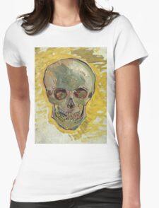 Vincent Van Gogh - Skull 2. portrait skull: skeletal, skeleton, smoking, teeth, mouth, skull, remains, ash, head, fantasy , death Womens Fitted T-Shirt