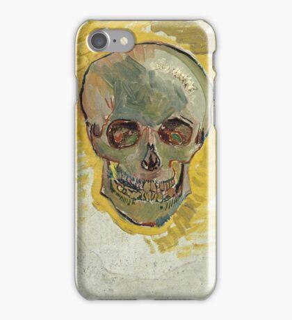 Vincent Van Gogh - Skull 2. portrait skull: skeletal, skeleton, smoking, teeth, mouth, skull, remains, ash, head, fantasy , death iPhone Case/Skin