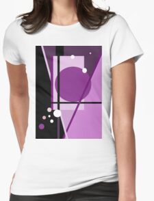 Purple  design by Moma Womens Fitted T-Shirt