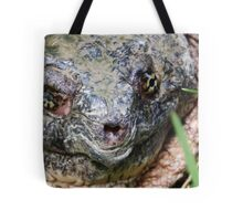 Common Snapping Turtle Close Up Tote Bag