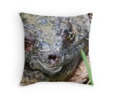 Common Snapping Turtle Close Up Throw Pillow