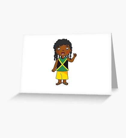 jamaica boy Greeting Card