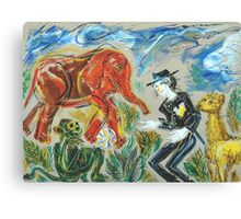 Michael Jackson's Zoo: Sergei Lefert's drawing Canvas Print