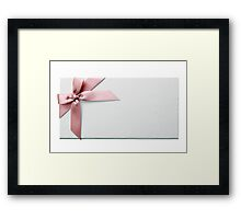 Gift Box With Pink Bow Framed Print