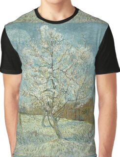 Vincent Van Gogh - The Pink Peach Tree. Garden landscape: garden view, trees and flowers, blossom, nature, botanical park, floral flora, wonderful flowers, plants, cute plant, garden, flower Graphic T-Shirt