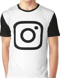 New Instagram Logo Black&White Graphic T-Shirt