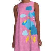 Who Makes the Thunder? - in PINK A-Line Dress