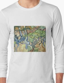 Vincent Van Gogh - Tree-Roots. Garden landscape: garden view, trees and flowers, blossom, nature, botanical park, floral flora, wonderful flowers, plants, cute plant, garden, flower Long Sleeve T-Shirt