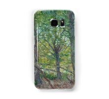 Vincent Van Gogh - Trees. Forest view: forest , trees,  fauna, nature, birds, animals, flora, flowers, plants, field, weekend Samsung Galaxy Case/Skin