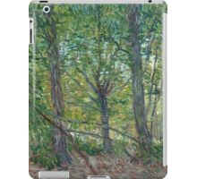 Vincent Van Gogh - Trees. Forest view: forest , trees,  fauna, nature, birds, animals, flora, flowers, plants, field, weekend iPad Case/Skin