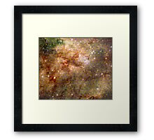 Tarantula Nebula Metatron's Cube Pattern Overlay [Pikachu Version] Framed Print