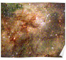 Tarantula Nebula Metatron's Cube Pattern Overlay [Pikachu Version] Poster