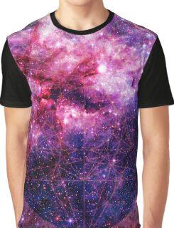 Tarantula Nebula Double Metatron's Cube Mewtwo Graphic T-Shirt