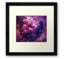 Tarantula Nebula Double Metatron's Cube Mewtwo Framed Print